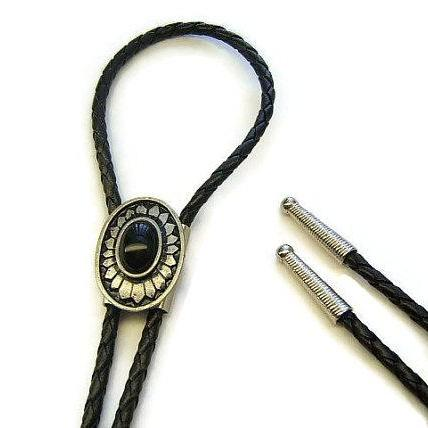 Southwestern, Western Tribal Indian Concho Bolo Tie, American West Jewelry, #1084B-8C